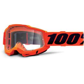 100% Accuri OTG Goggles Gen2, neon orange/clear